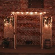 Lighted Vintage Door Arbor