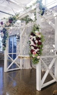 Floating Cake Table with silk florals