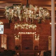 Maiden wedding for our extra large floral chandiliers